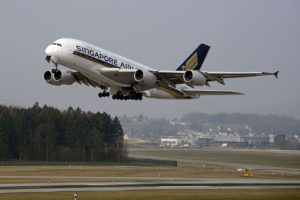 Singapore Airline Plan Taking Off