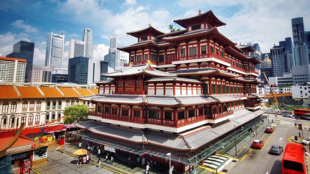 temple in singapore chinatown - daytime