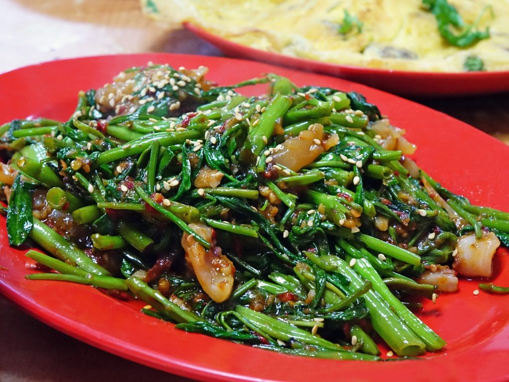 water spinach dish